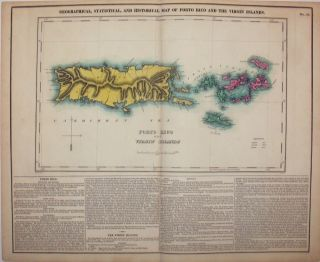 Geographical, Statistical, and Historical Map of Porto Rico and the Virgin Islands.
