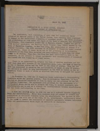 Collection of reports about the De-Nazification of German and other business interests at the end of World War II, by a Special Attorney to the Justice Department (Economic Warfare Section), Alexander Sacks.