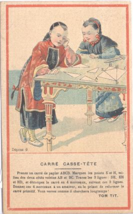 Carre Casse-Tete. China, Paris High Life Tailor Montmartre