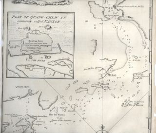A Chart of the entrance into Kanton from the Sea. Humbly Inscribed to the Rt. Honourable Lord Vere Beauclerk.