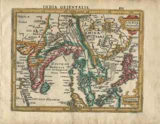 India Orientalis. Gerhard Mercator