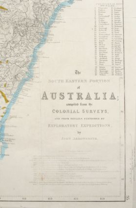 The South Eastern Portion of Australia; Compiled from the Colonial Surveys, and from Details Furnished by Exploratory Expeditions, by John Arrowsmith.