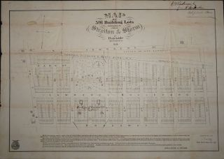 Map of 591 Building Lots belonging to Mess. Straiton & Storm at Bayside Queens Co. L. I. Queens...
