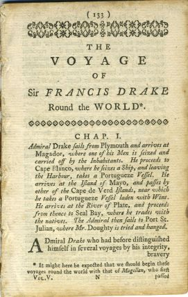 The Voyage of Sir Francis Drake Round the World; Chapters 1 - 3 from The World Displayed or, a...