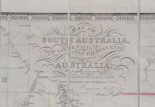 South Australia. Map of South Australia, New South Wales, Van Diemens Land and Settled Parts of Australia, with plans of the City of Sydney, and of the town of Adelaide.
