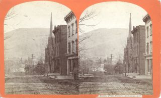 Beacon from Main St., Matteawan, NY; stereoscopic view