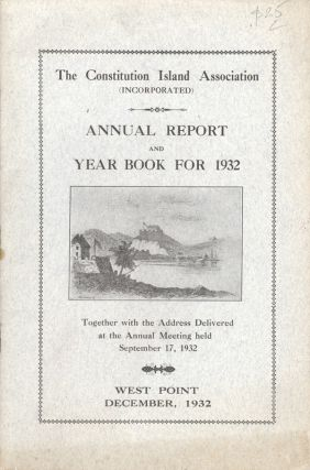 The Constitution Island Association (Incorporated) Annual Report and Year Book for 1932