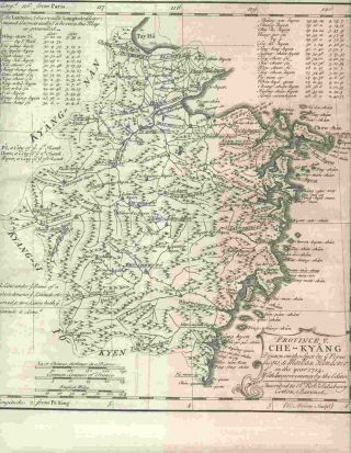 Province V Che-Kyang Drawn on the Spot by ye Peres Regis de Mailla & Henderer in the Year 1714......