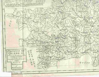 Province XIII Quang-Si, Drawn on the Spot by the Peres de Tartre & Cordoso in the Year 1714......