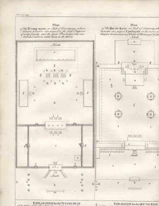 "Architectural plan of the Ti vang myau and the Que tse Kyen, Halls of Ceremony, from ""A..."