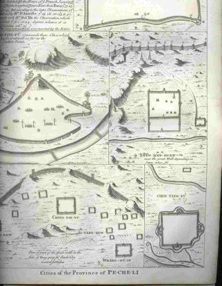 "Cities of the Province of Pe-Che-Li , from ""A Description of the Empire of China and..."