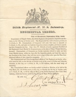 Regimental Orders, 265th Regiment New York State Infantry.