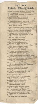 The New Irish Emigrant (Broadside Ballad