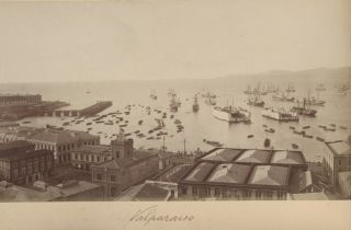 Four photographs of Valparaiso and Cauquenes, Chile.