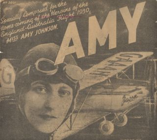 Music Composed for Aviation Pioneer Amy Johnson.