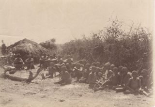 Photograph of Matabeles natives in Bulawayo, Zimbabwe