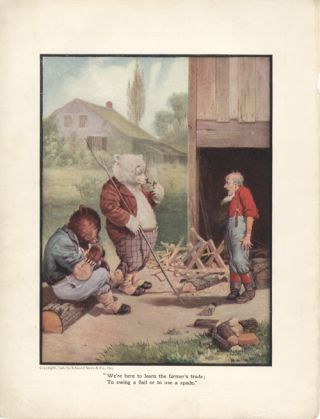 The Roosevelt Bears on a Farm (Color Print). V. Floyd Campbell