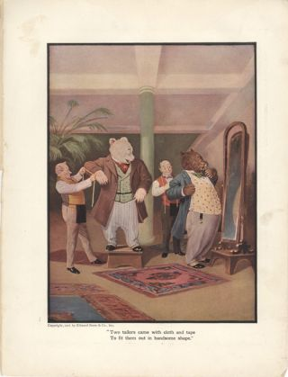 The Roosevelt Bears at the Tailors (Color Print). V. Floyd Campbell