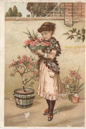 Advertising Card for R.D. Hubbard Superlative Flour