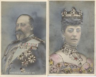 Bas Relief Postcards of British rulers King Edward VII and Queen Alexandra
