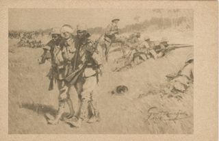 Five Postcards with Illustrations of Scenes in German Africa during World War I.
