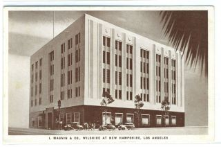 Postcard of I. Magnin & Co. at Wilshire and New Hampshire in Los Angeles, California