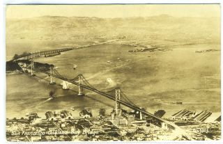Photo Postcard of San Francisco-Oakland Bay Bridge, California
