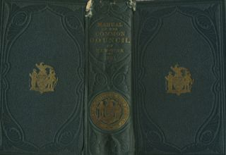 Manual of the Corporation of the City of New York 1865. D. T. Valentine. New York City color...