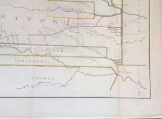 """A cornerstone 1836 map of the Western United States, showing mainly Kansas and Nebraska (""""Western Territory"""")."""