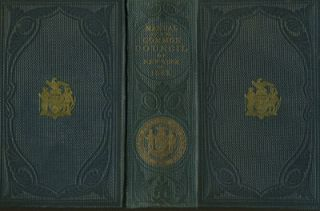 Manual of the Corporation of the City of New York 1863. D. T. Valentine. New York City color...