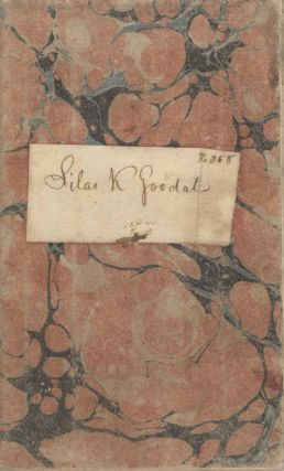 Account Book of Silas K. Goodale from the Bank of Newburgh, New York, 1824-25. Silas K. Goodale