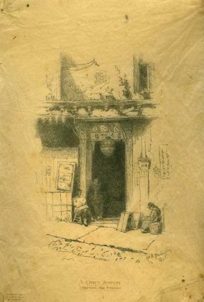 A Chinese Doorway, Chinatown, San Francisco. J. H. E. Partington