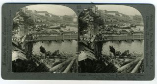 "Stereoscopic view, Singapore, the ""Cross Roads"" of the World - the Great Eastern Trading Port of..."