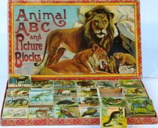 Animal ABC and Picture Blocks. In original box. Childrens, ABC