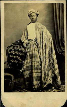 Carte de Visite photo of Burmese Prince, Maung Shaw Loo (1839 - 1929) in his native dress. E. L....