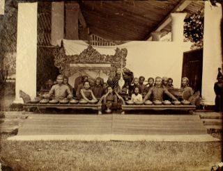 A Gamelan Orchestra. Photograph, Indonesia