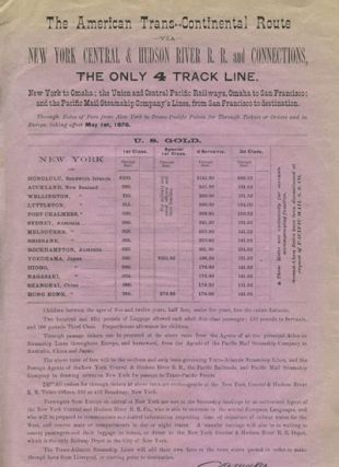 The American Trans-Continental Route via New York Central & Hudson River R. R. and Connections,...