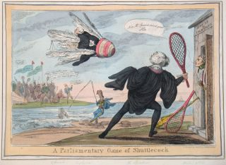 A Parliamentary Game of Shuttlecock. Ireland, Thomas McLean