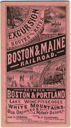 Boston & Maine Railroad. Excursion Routes and Rates