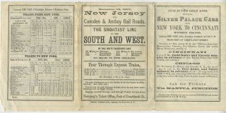 New Jersey and Camden & Amboy Rail Roads Time Table. December 16, 1867