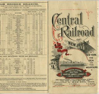 Central Railroad of New Jersey time table. May 29, 1898