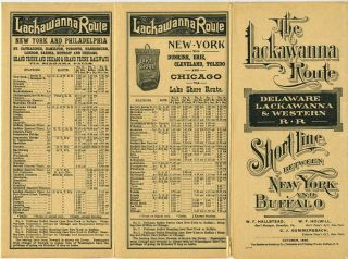 Delaware, Lackawanna & Western Railroad time table. October, 1895