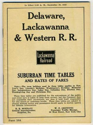 Delaware, Lackawanna & Western Railroad time table. September 29, 1929.