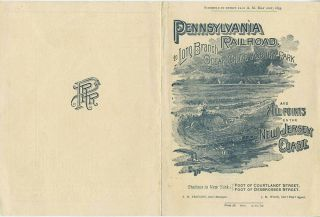 Pennsylvania Railroad to Long Branch, Ocean Grove, Asbury Park and All Points on the Jersey...