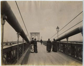 Brooklyn Bridge Between Piers, photograph, ca. 1885. Brooklyn Bridge, Photograph