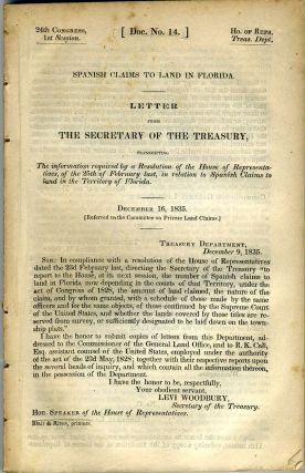 House of Representatives, Letter from the Secretary of the Treasury, transmitting the information...