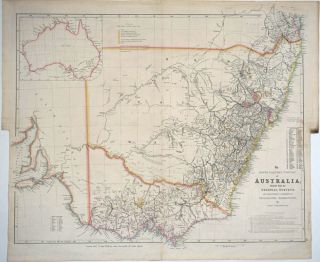 The South Eastern Portion of Australia; Compiled from the Colonial Surveys, and from Details...