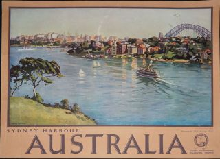 Sydney Harbour Australia (poster). Sir John William Ashton, Will