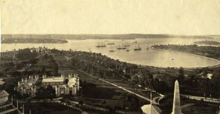 Panoramic view of Sydney taken from the top of the Garden Palace, the International Exhibition...