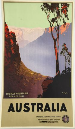 The Blue Mountains New South Wales. Australia. [Travel poster]. James. Australian National...